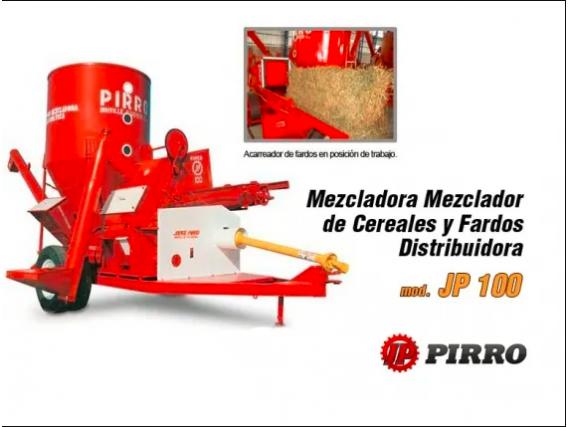 Moledora y mezcladora de cereales y forrajes Pirro JP 100
